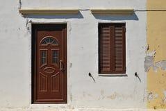Vieille maison dans le style grec Photos libres de droits