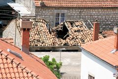 Vieille maison dans Ston, Croatie Photo stock