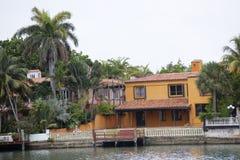 Vieille maison de bord de mer à Miami Images libres de droits