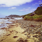 Vieille maison de bord de mer images libres de droits