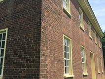 Vieille maison de brique rouge Photographie stock libre de droits