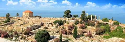 Vieille maison de Byblos Photographie stock libre de droits