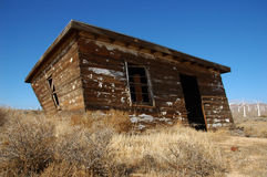 Vieille maison de désert Photo stock