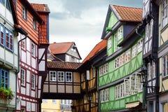 Vieille maison de Fachwerk dans Wolfenbuttel. Photographie stock