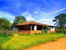 Vieille maison de région d'incofidente de Tiradentes images libres de droits