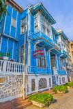 Vieille maison de rue d'Istanbul Photos stock