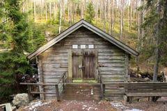 Vieille maison de Suédois de campagne Image stock