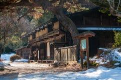Vieille maison de thé sur le chemin de Nakasendo Photos stock