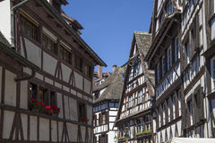 Vieille maison en Alsace Image libre de droits
