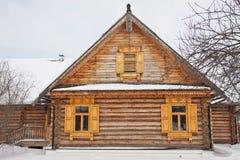 Vieille maison en bois dans le village Photo libre de droits