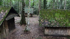 Vieille maison en bois HD banque de vidéos