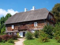 Vieille maison en bois, Lublin, Pologne Photo stock
