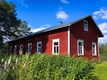 Vieille maison finlandaise Photo stock