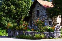 Vieille maison française superbe Image libre de droits