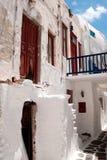 Vieille maison grecque traditionnelle sur l'île de mykonos photographie stock libre de droits