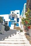 Vieille maison grecque traditionnelle sur l'île de mykonos image stock