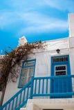 Vieille maison grecque traditionnelle sur l'île de mykonos photo stock