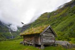 Vieille maison historique en Norvège image libre de droits