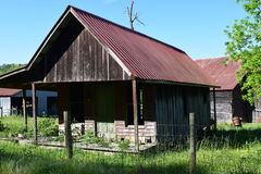 Vieille maison occidentale de ferme d'OR Images libres de droits