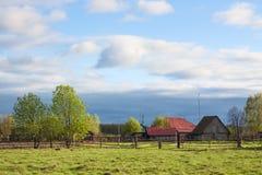 Vieille maison traditionnelle dans le village Photographie stock libre de droits