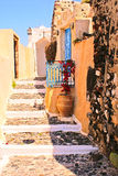 Vieille maison traditionnelle sur Santorini Photo libre de droits