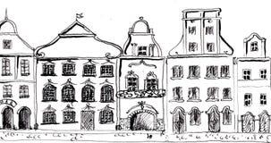Vieille marche de rue Loopable 4K illustration stock