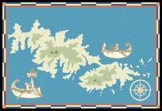 Vieille marine map1 Photo stock