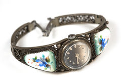 Vieille montre-bracelet de fer Images stock