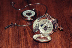 Vieille montre de poche Photographie stock