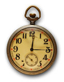Vieille montre de poche Photographie stock