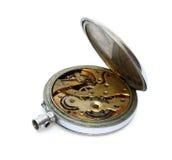 Vieille montre de poche avec le cache ouvert image stock
