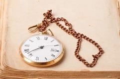 Vieille montre de poche Photos stock