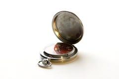 Vieille montre en métal photo stock