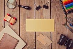 Vieille moquerie de papier pour l'illustration ou la présentation de conception de logo Vue de ci-avant Image stock