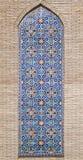 Vieille mosaïque orientale sur le mur, l'Ouzbékistan Image stock