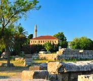 Vieille mosquée dans la ville de Kos Photos libres de droits