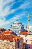 Vieille mosquée de Fatih Camii (Esrefpasa) dans la vieille partie d'Izmir Images libres de droits