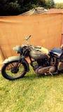 vieille moto militaire Image stock