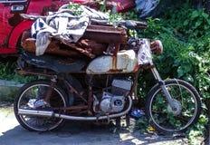 Vieille moto - mon ami vrai Forget-1 image libre de droits