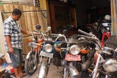 Vieille motocyclette Photographie stock