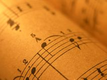 Vieille musique de feuille 1 Images stock
