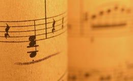 Vieille musique de feuille 2 Photos libres de droits
