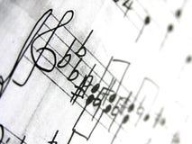 Vieille musique de feuille Images stock