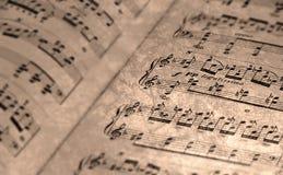 Vieille musique de feuille Image libre de droits