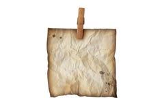 Vieille note de papier Images libres de droits