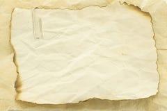 Vieille note de papier de texture Image libre de droits