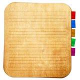 Vieille note de papier et note de rappel Images libres de droits