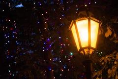 Vieille nuit de réverbère Photo libre de droits