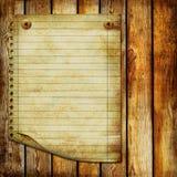 Vieille page Images libres de droits