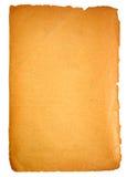 Vieille page blanc de papier Photo libre de droits